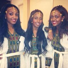 Traditional Ethiopian dress.