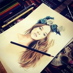 Very pretty, who ever can draw this good is talented. Because it takes a lot of detail put in this art work to make it look that realistic