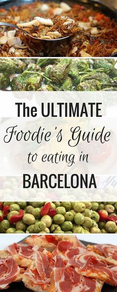 Barcelona is a foodie's dream city! This is my personal guide to eating in Barcelona. First I tell you what to eat in Barcelona-- there are so many amazing foods to try! Then I help you find the best tapas bars in Barcelona and share my favorite restauran Barcelona Tapas, Barcelona Guide, Barcelona Restaurants, Barcelona City, Barcelona Spain Travel, Tickets Barcelona, Barcelona Vacation, Easy Spanish Recipes, Best Tapas