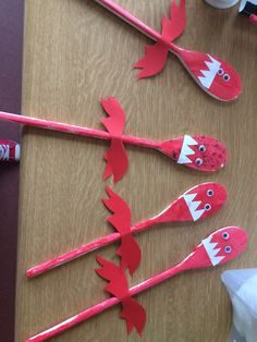 Welsh dragons Saint David's day craft pre school Welsh identity celebrations from around the world