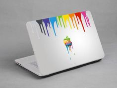Colourful Apple laptop notebook netbook sticker art by Mamahanky, $4.99