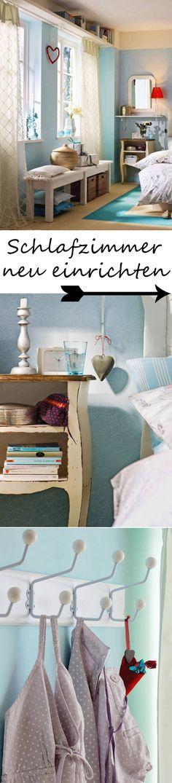 """Wie holt man eine frische Brise ins Schlafzimmer? Mit praktischen Finessen, effektvollen Farbideen und sommerleichten Stoffen gelingt das Projekt """"Schlafzimmer neu einrichten"""" garantiert. ALLE TRICKS >>>>>>>>"""