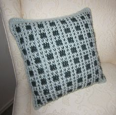 Ravelry: Wrynne's Faux Plaid Pillow