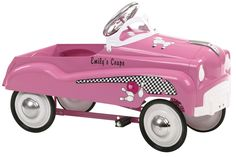 Features:  -Authentic detailing - Brings back memories of old times.  -Adjustable pedal drive - Fits a wide size range of children.  Product Type: -Car and truck.  Color: -Pink.  Primary Material: -Me