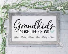 Mother's Day Gift For Grandma Mothers Day Signs, Grandmas Mothers Day Gifts, New Grandparents, Mother Gifts, Diy Birthday Gifts For Dad, Grandma Birthday, Easy Diys For Kids, Diy Crafts For Adults, Bob Marley