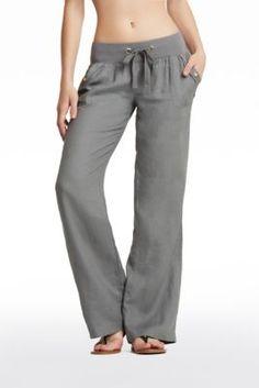 Teagan Linen Pants | Guess Factory Canada