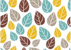 Ornate Seamless Leaf Pattern Vector