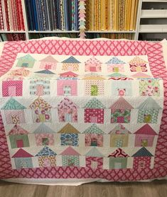 Megelles little house scrap quilt and tutorial. My blog has the block instructions