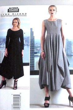 Vogue Designer Lynn Mizono V1312 Misses Dress Sewing Pattern Plus Size 8 24 | eBay