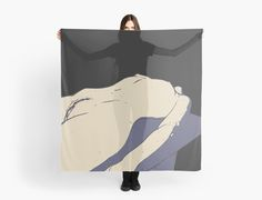 NSFW! Black, beige, blue, and the body by casemiroarts Available in three distinct sizes, our Wall Tapestries are made of 100% lightweight polyester with hand-sewn finished edges. Featuring vivid colors and crisp lines, these highly unique and versatile tapestries are durable enough for both indoor and outdoor use. #erotic #art #exy #nude #girl
