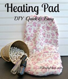 HOW-TO-MAKE-AN-AROMATHERAPY-HEATING-PAD-DIY-QUICK-AND-EASY-- Need 2lbs. beans coated in aromatherapy oil of choice & 2 pieces of fabric