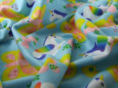 Unicorn and butterfly fabric