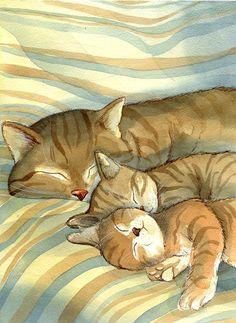 hora de dormir, ilustración de Marco Furlotti