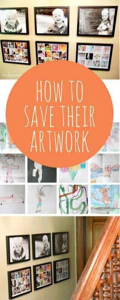 How to save the kids' artwork (without saving ALL the papers!)