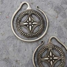 Miao silver earrings