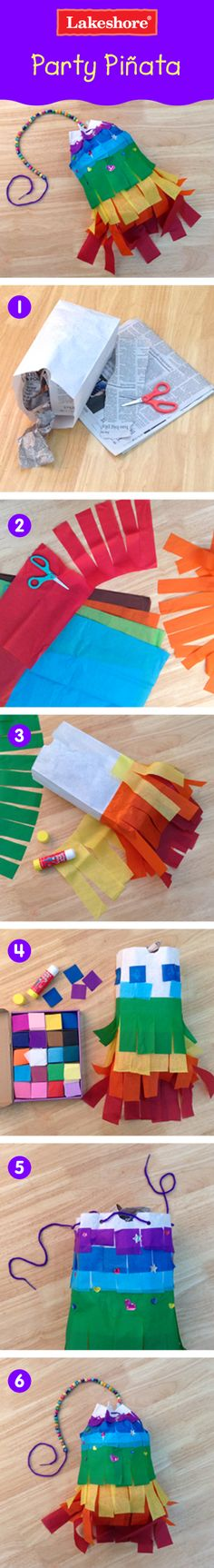 Decorate any room in the house with this colorful play piñata!