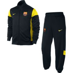 The Barcelona Black Academy Tracksuit 2013-14 is a hard wearing quality product from Nike,ideal for wearing before the match to warm up in, it would even be great as leisure wear, see other training kit in the Barcalona range http://www.soccerbox.com/internationalteams/barcelona-football-shirts/training-kit/