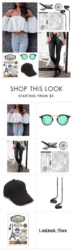 """""""A Summer Holiday Look for Less"""" by lookbookstore ❤ liked on Polyvore featuring rag & bone and Shure"""