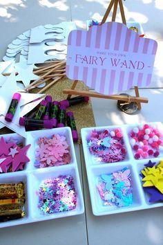 Fun fairy party activity! Cute Ideas via Kara's Party Ideas KarasPartyIdeas.com