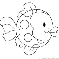 printable coloring pages fish | Coloring Pages Childrens Fish (Animals > Fishes) - free printable ...