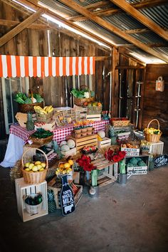Main Setup from a Farmers Market Birthday Party via Kara's Party Ideas | KarasPartyIdeas.com (25)