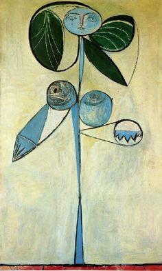 Pablo Picasso, La Femme-Fleur Oil on canvas 1946 on ArtStack #pablo-picasso #art