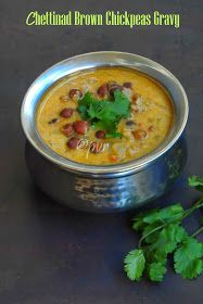 Chettinad chickpeas gravy1 Kurma Recipe, Chickpeas, Gravy, Cheeseburger Chowder, Soup, Ethnic Recipes, Kitchens, Salsa, Chic Peas