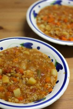 Green Gourmet Giraffe: Scotch broth.with lentils and barley