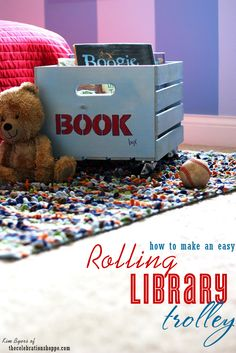 How to make a rolling library | Kim Byers, TheCelebrationShoppe.com #librarybooks #bookbox #backtoschool