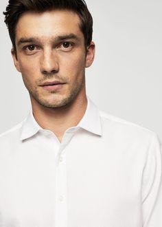 Приталенная фактурная рубашка из хлопка