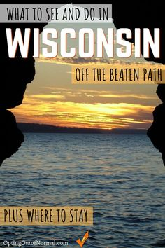 Off the Beaten Path in Wisconsin. Our Top 9 Hidden Gems! - Opting Out of Normal Wanderlust Travel, Travel Usa, Canada Travel, Travel Tips, Beautiful Places To Travel, Cool Places To Visit, Wisconsin, Michigan, Road Trip Usa