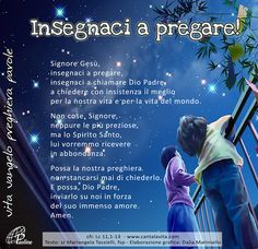 Insegnaci a pregare! Baby Words, Catholic Prayers, In God We Trust, Im Happy, Christian Inspiration, Christianity, Quotations, Best Quotes, Positivity