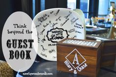 Think beyond the guest book - ideas for fun, useful guestbooks for showers, parties or weddings.