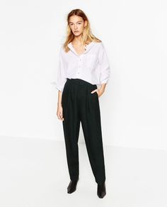 GATHERED TROUSERS from Zara