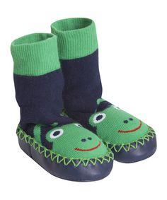 Loving this Green Frog Slipper Socks - Infant & Toddler on #zulily! #zulilyfinds