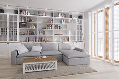 Domowa biblioteka w salonie - Lovingit.pl