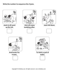 Print And Learn Picture Sequence Worksheets , Free Printable Main Idea Worksheets Download And Print Turtle Diary\u0027s Story Sequencing Jack And Jill Worksheet Our\u2026