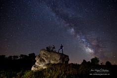 #MilkyWay #VíaLáctea #Formacionesrocosas en #AlfozdeSantaGadea #MonteHijedo #Fotografianocturna