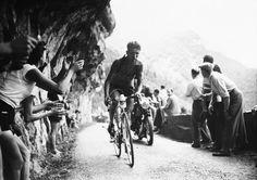 Tour de France 1954. 17^Tappa, 26 luglio. Lione > Grenoble. Col de Romeyère. Federico Martin Bahamontes (1928)