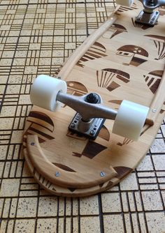 At first I thought it had chiselled cutouts or that it had multiple wood types. Swede and Crowe Skateboard by Says Who , via Behance Longboard Design, Skateboard Design, Skateboard Art, Snowboard, Long Skate, Skateboard Companies, Board Shop, Wood Types, Skate Decks