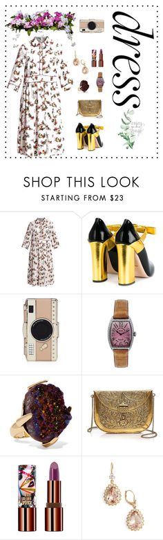 """""""dreamy dress"""" by loveshinypeople ❤ liked on Polyvore featuring Baum und Pferdgarten, Gucci, Kate Spade, Franck Muller, Christopher Kane, From St Xavier, Teeez, Marchesa and Improvements"""