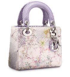 Multi-coloured 'Lady Dior' mini bag