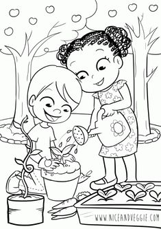 Start Gardening Coloring Page See the category to find more printable coloring sheets. Also, you could use the search box to find what you want. Coloring Pages Nature, Garden Coloring Pages, Preschool Coloring Pages, Printable Coloring Pages, Coloring Books, Flower Coloring Sheets, Coloring Sheets For Kids, Adult Coloring, Elsa Coloring