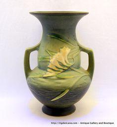 Roseville Freesia Bulbous Vase 1228 by ogdenlane on Etsy, $210.00  LOVE LOVE LOVE Roseville Pottery!