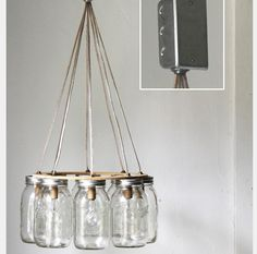 Mason Jar Chandelier | Best Home Depot Hacks and Homesteading Tips & Tricks at http://pioneersettler.com/home-depot-hacks-homesteading-tips-tricks