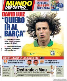 Los Titulares y Portadas de Noticias Destacadas Españolas del 9 de Agosto de 2013 del Diario Mundo Deportivo ¿Que le pareció esta Portada de este Diario Español?