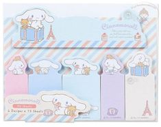 SANRIO-CINNAMOROLL-STICKY-NOTES-SET-6-DIFFERENT-DESIGNS-15-X-6-90-SHEETS