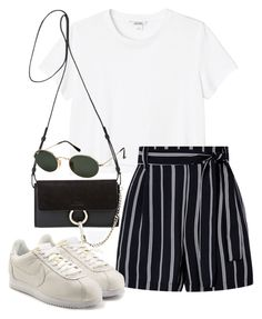"""Sin título #4269"" by camilae97 ❤ liked on Polyvore featuring Monki, NIKE, Chloé and Ray-Ban"