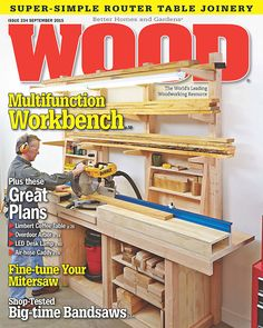 Shop Woodworking WOOD Issue September 2015 - WOOD Issue September 2015 Back issues of WOOD magazine are very limited. Wood Magazine, Magazine Racks, Woodworking Projects That Sell, Woodworking Books, Popular Woodworking, Woodworking Furniture, Fall Wood Projects, Outdoor Projects, Cnc Wood