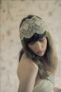juliet cap headpiece | Juliet Cap Lace Headpiece.